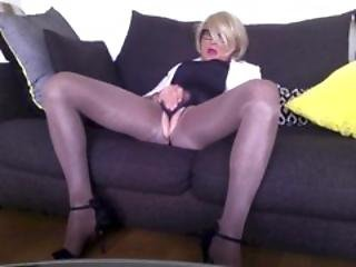Cd Tv Ts Sissy Slut In My Beige Pantyhose And Glasses
