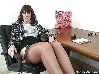 Scottish Milf Toni Lace Strips Off And Fucks Herself