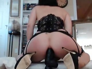 Anal Milf Ride In Huge Black Dildo Cowgirl Ch