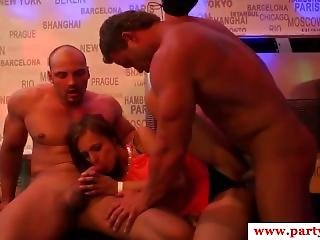 Sexparty Babes Trio Fucking And Cockriding