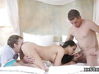 Lover Assists With Sexy Examination And Poking Of Virgin Cutie