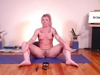 Naked Yoga With Yoga Teacher #1- Bonni B Good - Just Stretching Naked! :)