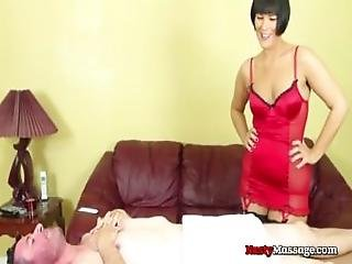 Man Massaged By Hot Femdom