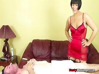 Man Massaged By Hot Femdom