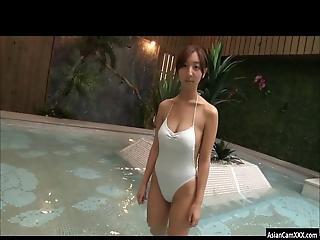 Beautiful Asian Teen Riho Teasing