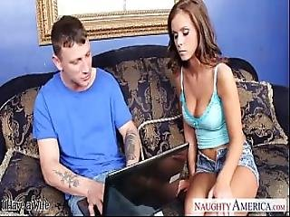 Hot Chick Whitney Westgate Sucks And Fucks A Guy For Fixing Her Laptop