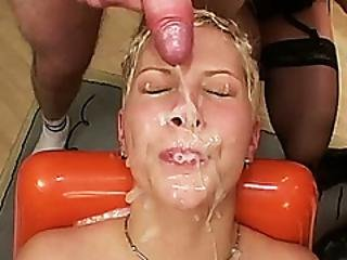 Busty Tattooed German Teen Enjoys Her First Extreme Rough Bukkake Anal Fuck Party Orgy