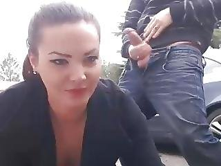 Amateur, Couple, Facial, French, Outdoor, Park, Public, Webcam