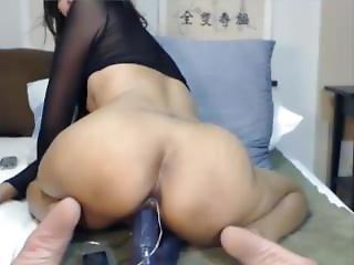 Classdeb Malaysian Mature Woman Fetish Bodysuit Fishnet Naked Dildo Show