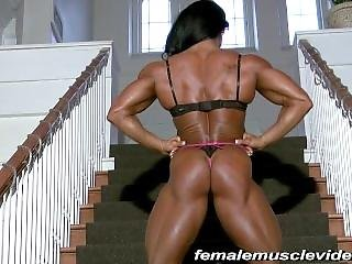 Fitness Beauty On The Stairs