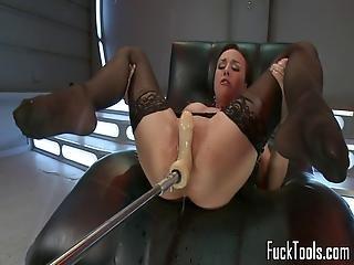 brunette, masturbation, milf, chatte, jet de mouille