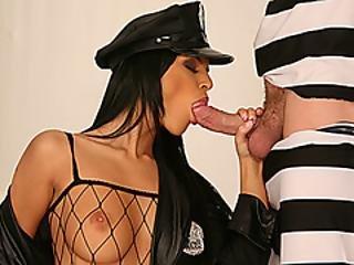 Bitch Prison Warden Sucks Inmates Dick