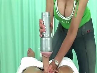 Lady Sonia Toys With Fetish Cock
