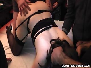 Huge Slutwife Gangbang With 40 Men