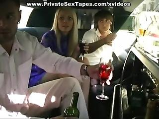Crazy And Hot Blonde Girlfriend Fucked In The Limo