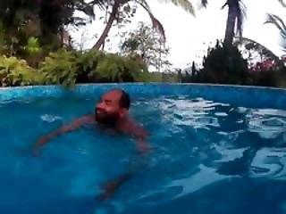 μπανιάρισμα, μπικίνι, κλιτορίδα, ζευγάρι, Flashing, παίξιμο, διαφυλετικό, πισίνα, τριβή, μαγιό, κάτω από το νερό, υγρή