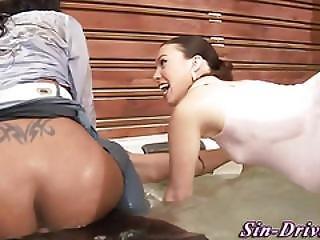 Babe, Blowjob, Busty, Ebony, Fetish, Ffm, Hardcore, Messy, Threesome