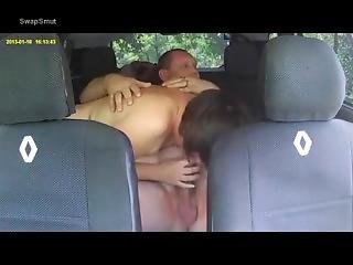 Mom Sucking Off Hubby´s Cock In The Car