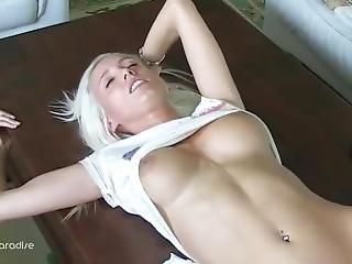 Blonde European Teen Creampied