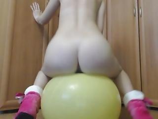 ballon, krem, creampie, fetish, sjov, kinky, onani, rødhåret, skole, små bryster, alene, lejetøj