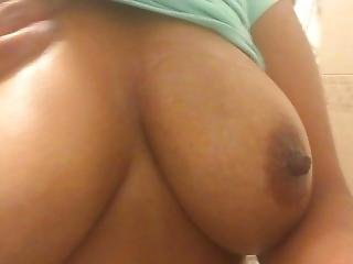 Touching My Natural Tits Just For You