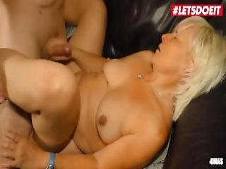 Letsdoeit Horny Granny Takes On Her Step Nephew S Cock