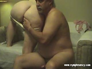 Hairy Bbw And Mature Man Put On Web Cam Show