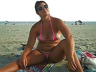 Amateur, Ass, Beach, Big Boob, Bikini, Boob, Public, Pussy