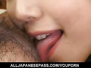 Arika Takarano Licks And Sucks Hard Penis