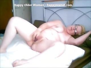 Cute Granny Masturbating. Amateur Older