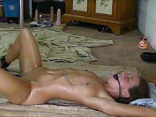 amatør, bondage, innbundet, dildo, fingering, knulling, hardcore, spruting, kone
