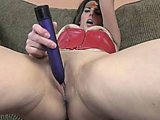 Busty Milf Lavender Rayne In A Costume While Masturbating