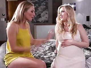 Pregnant Blonde Girl And Her Friend Have Tender Emotional Sex