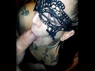 My Masked Wife Shannon Simmons Deepthroating My Cock Again