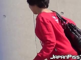 Japanese Women Secretly Taped While Pissing Hard