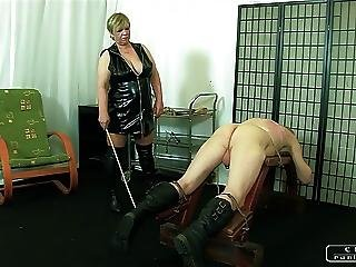 Bdsm, Caning, Femdom, Granny, Mature, Spanking, Whip