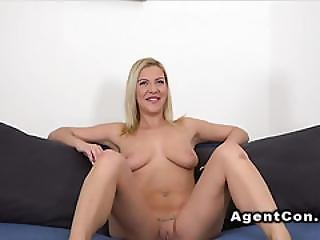 Blonde With Long Nails Fucks In Casting