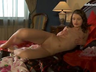 Petite Girl Rubs Vagina