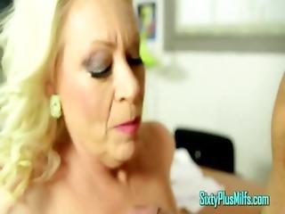 Blonde Pierced School Principal Milf