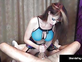 Big Boobied Milf Shanda Fay Takes A Nice Cock In Her Mouth