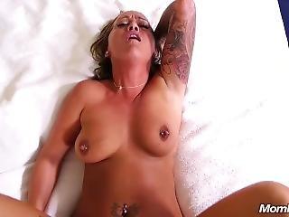 Slutty Tattooed Amateur Milf Cock Worship