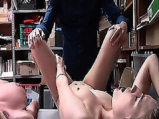 Lp Officer Shoving His Big Cock On Shoplifters Pussies
