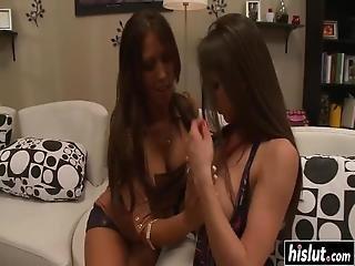 Rachel And Capri Share His Pulsating Schlong