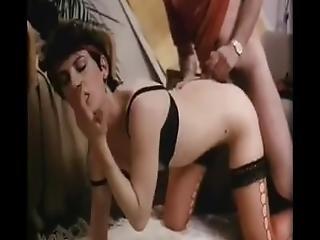 Sexy Retro Babe Strips And Fucks