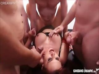 4 Pornstars Get Gangbanged By The Cocksmen And Left With Creampies