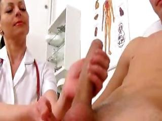 Hot Uniform Milf Renate Is Naughty Handjob Doctor