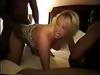 Wife Pimped Out To Black Gang Used Hard In The Ass