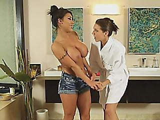 Busty Lady August Taylor Gets Stripped And Orally Satisfied By Sadie Holmes
