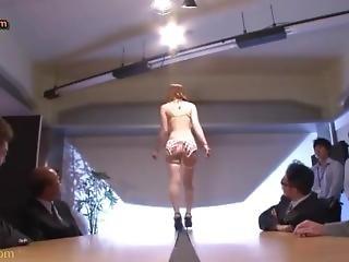 Obciąganie, Japonka, Biuro, Seks, Uniform
