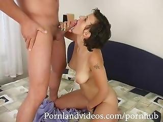 Hot Brunette Teen Fucking And Sucking Big Cock